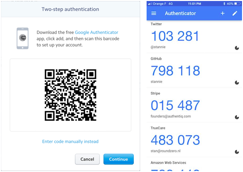 2FA QR and Authenticator